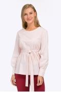 Бледно-розовая блузка с длинными рукавами Emka B2371/ragazza