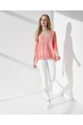 Летняя блузка с V-образным вырезом Sunwear I35-5-61