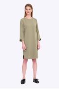Платье цвета хаки свободного кроя Emka PL586/hizer