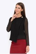 Чёрная блузка Emka Fashion b 2206/cleni