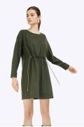 Платье цвета хаки прямого кроя Emka PL888/rahel