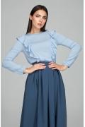 Романтическая блузка голубого цвета Donna Saggia DSB-49-81