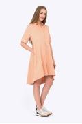 Платье-рубашка персикового цвета Emka Fashion PL-592/adeleid