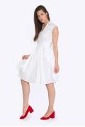 Белое платье с рубашечным воротом Emka PL-630-1/lesli