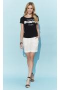 Чёрная женская блузка с креативной надписью Zaps Vivienne