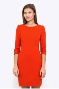 Короткое платье морковного цвета Emka Fashion PL-443/vanga