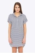 Летнее платье-рубашка в полоску Emka PL-508/vladlena