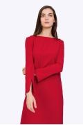 Красное платье с длинными рукавами Emka PL865/current