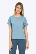 Летняя голубая блузка с короткими рукавами Emka B2226/esmira