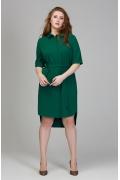 Платье-рубашка изумрудного цвета Donna Saggia DSPB-17-76