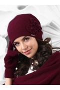 Шапка бордового цвета Kamea Andora