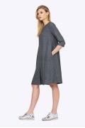 Платье А-силуэта из плотной ткани Emka PL726/rovena