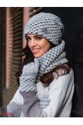 Трикотажная шапка серого цвета Kamea Olivia