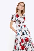 Лёгкое платье-миди с короткими рукавами Emka PL830/ashley