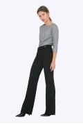 Широкие женские брюки чёрного цвета Emka D070/lenora