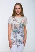 Женская футболка в ретро стиле Issi 171112
