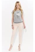 Летняя женская блузка с вышивкой Zaps Mariella