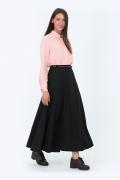 Длинная чёрная юбка Emka Fashion 633-almaza