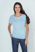 Голубая блузка Andorvers 206629