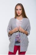 Светло-серый женский кардиган Issi 171901
