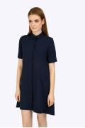 Летнее платье-рубашка темно-синего цвета Emka PL592/sandro