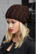 Молодёжная шапка шоколадного цвета Gulyann Jack