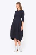 Повседневное платье синего цвета Emka PL-661/intuiciya