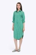 Летнее платье-рубашка зелёного цвета Emka PL601/rainbow