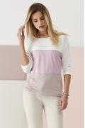 Трёхцветная трикотажная блузка Sunwear Q35-4-11