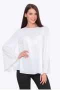 Белая блузка А-силуэта с широкими рукавами Emka B2254/anet