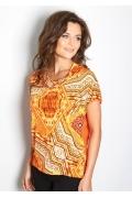 Летняя блузка оранжевого цвета TopDesign A7 026