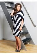 Летнее трикотажное платье оригинального кроя TopDesign A7 054