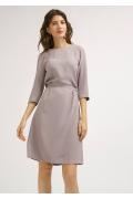 Платье цвета мокко в полоску Emka PL920/lui