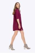 Укороченное платье - рубашка Emka PL702/latifa