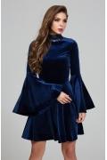 Синее бархатное платье Donna Saggia DSP-303-41t