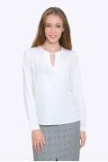 Осенняя блузка с V-образным вырезом Emka b2263/chinzana