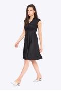 Чёрное платье с рубашечным воротом Emka PL-630/zinira