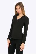 Стильная и элегантная черная блузка Emka B2279/premiera