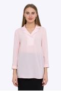 Розовая полупрозрачная блузка Emka b 2180/vizantiya