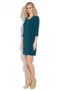 Бирюзовое платье с кружевным вырезом Donna Saggia DSP-266-77