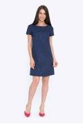Платье из темно-синего жаккарда Emka PL522/kami