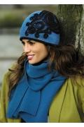 Женская шапочка бирюзового цвета Kamea Sofia
