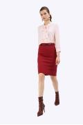 Классическая юбка бордового цвета Emka S675/flexa