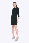 Чёрное прямое платье Emka PL725/vilma