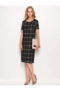 Чёрное платье в белую клетку Sunwear ZS267-3-02