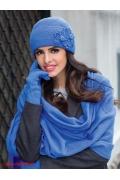 Синяя шапочка с отворотом Kamea Magnolia