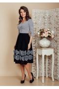 Красивая широкая юбка средней длины TopDesign Premium PB6 15