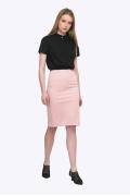 Недорогая юбка розового цвета Emka S663/fussy