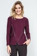 Бордовая блузка из трикотажа Enny 240042