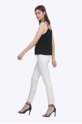 Женские брюки-скинни молочного цвета Emka D-016/vega